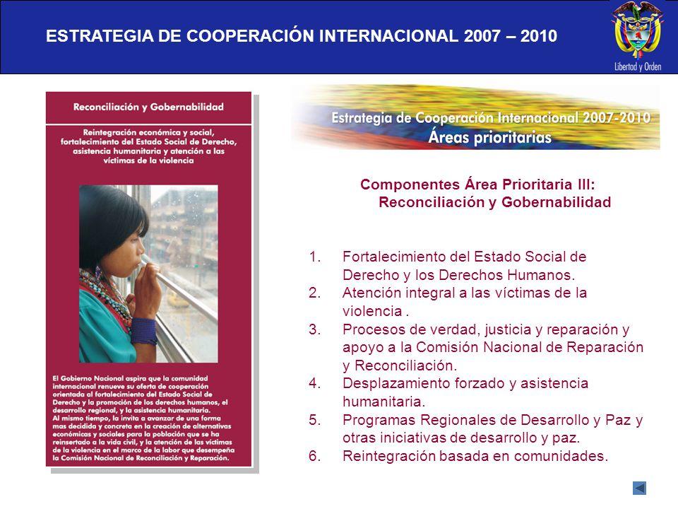 ESTRATEGIA DE COOPERACIÓN INTERNACIONAL 2007 – 2010