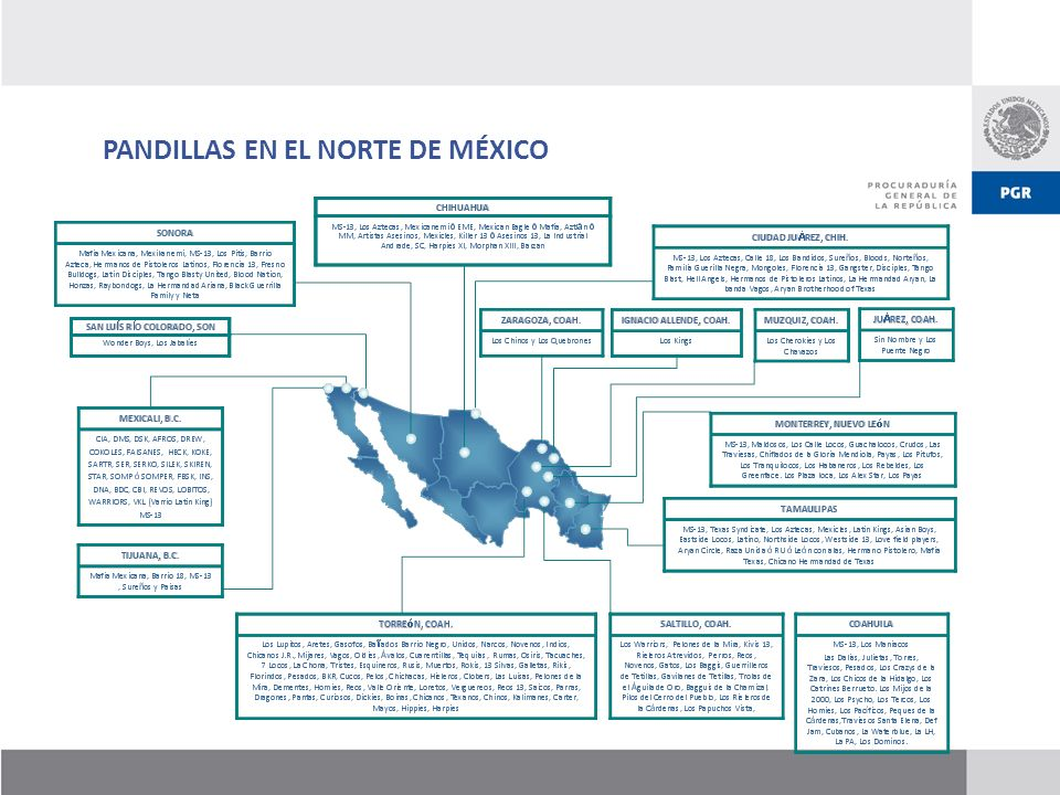 PANDILLAS EN EL NORTE DE MÉXICO