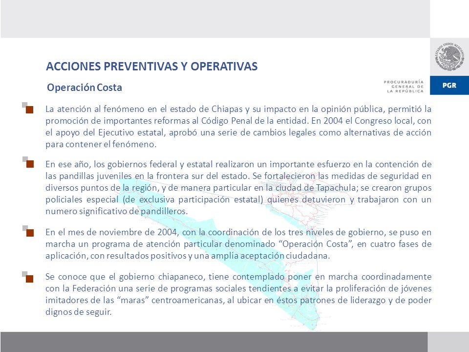 ACCIONES PREVENTIVAS Y OPERATIVAS