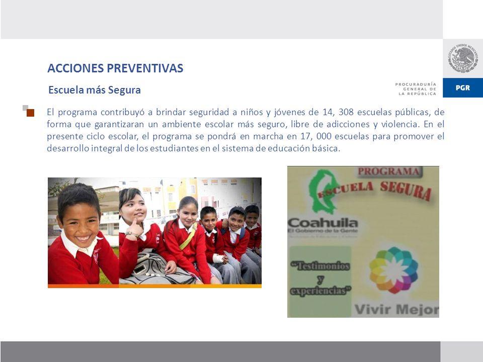 ACCIONES PREVENTIVAS Escuela más Segura