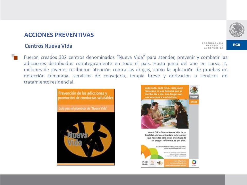 ACCIONES PREVENTIVAS Centros Nueva Vida