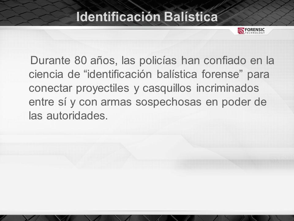 Identificación Balística