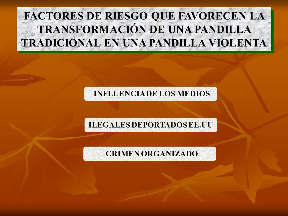 INFLUENCIA DE LOS MEDIOS ILEGALES DEPORTADOS EE.UU.