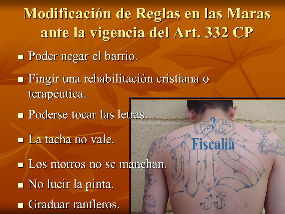 Modificación de Reglas en las Maras ante la vigencia del Art. 332 CP