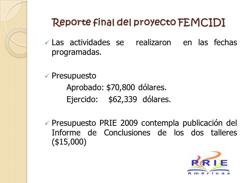 Reporte final del proyecto FEMCIDI