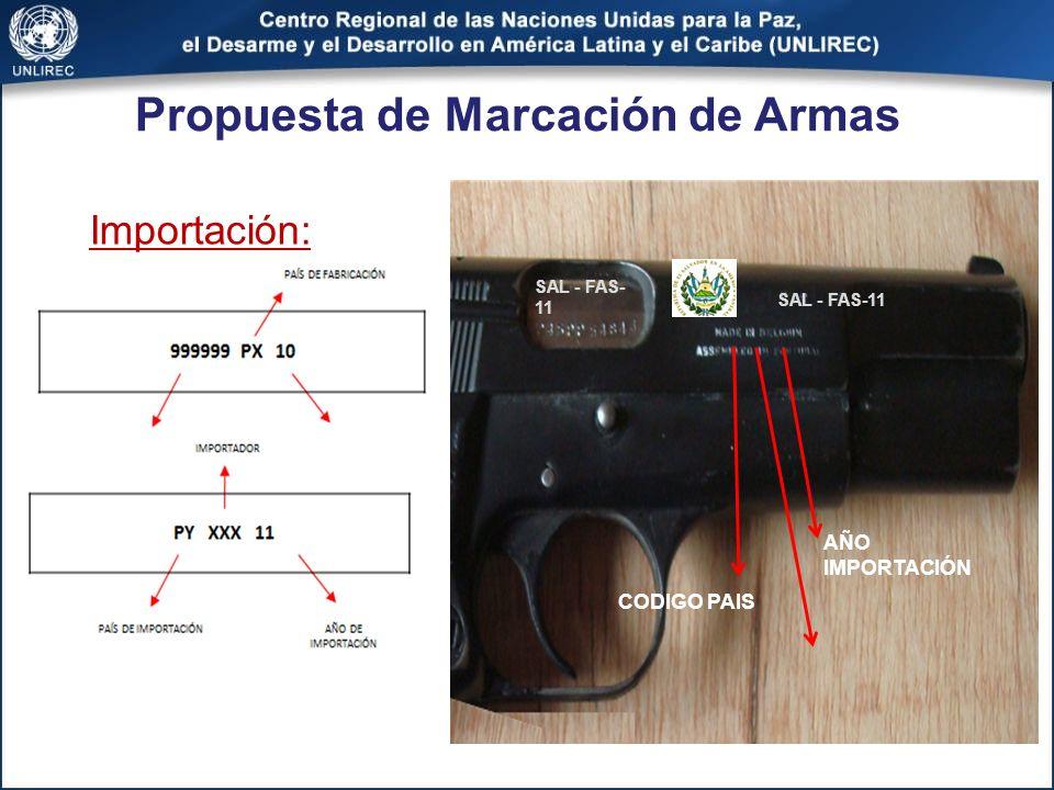 Propuesta de Marcación de Armas