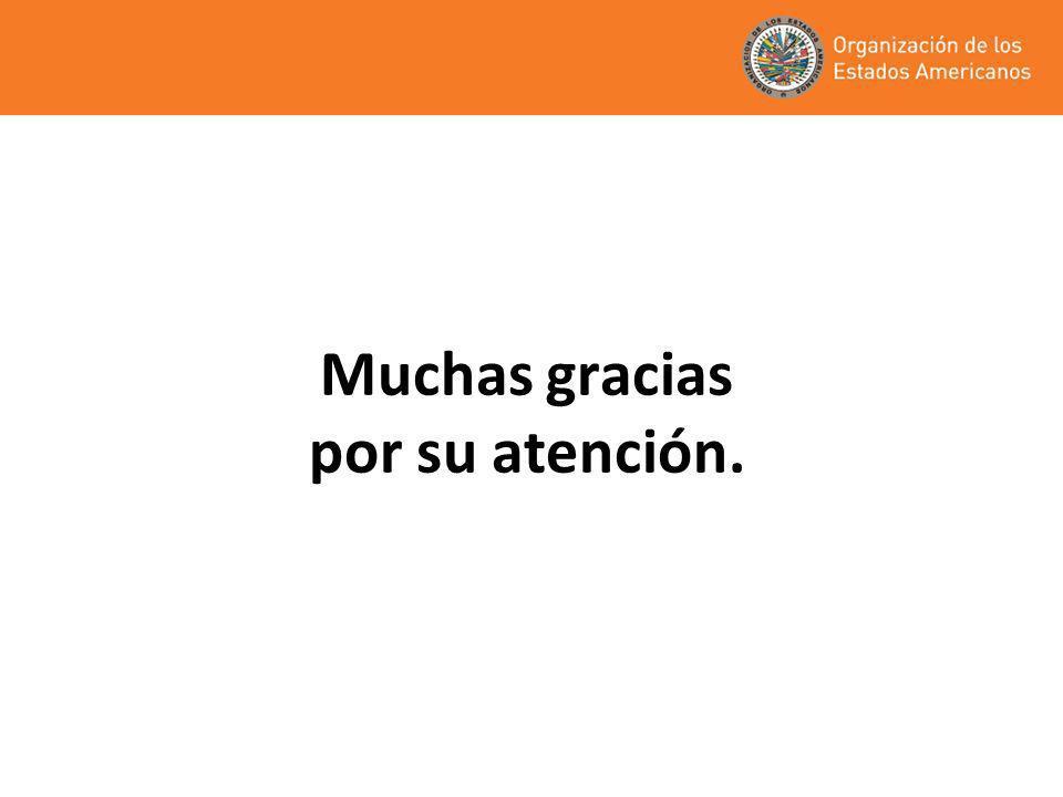 Muchas gracias por su atención.
