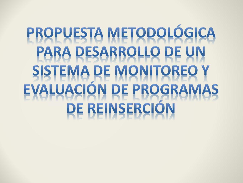 Propuesta metodológica para desarrollo de un sistema de monitoreo y evaluación de programas de reinserción