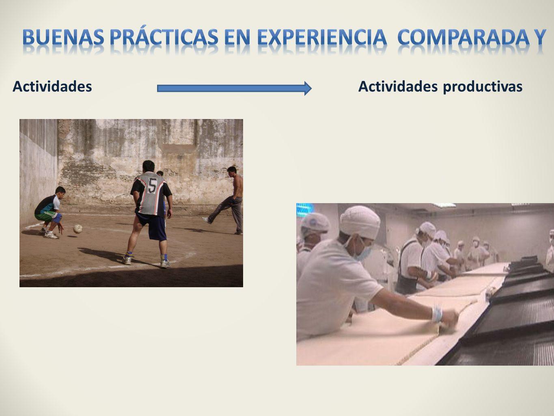Buenas prácticas en experiencia comparada y
