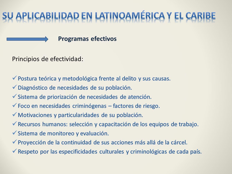 su aplicabilidad en Latinoamérica y el Caribe
