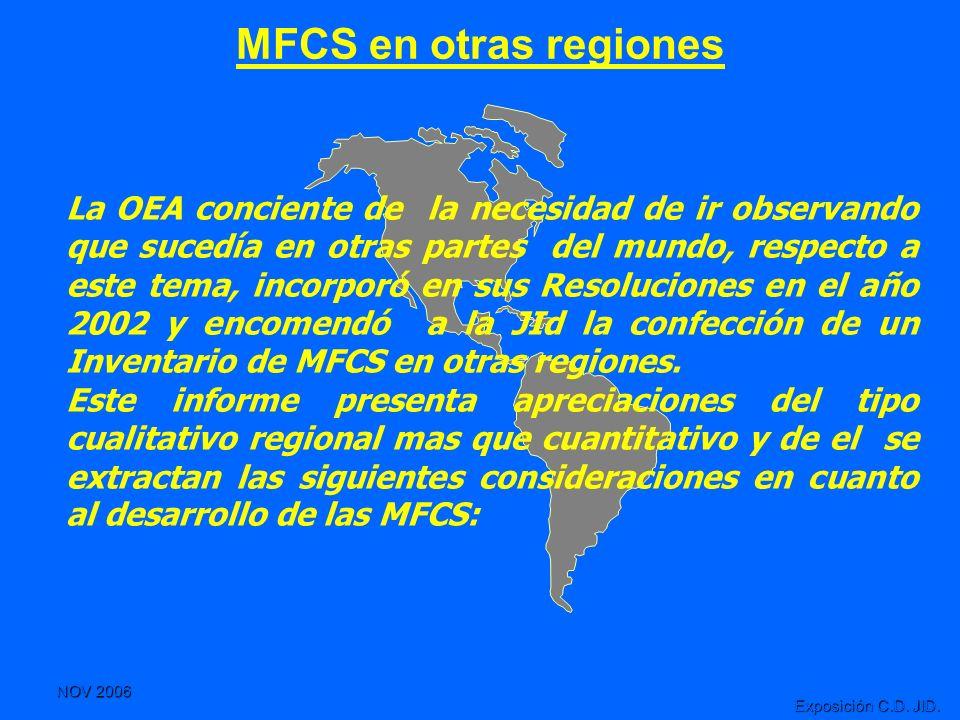 MFCS en otras regiones