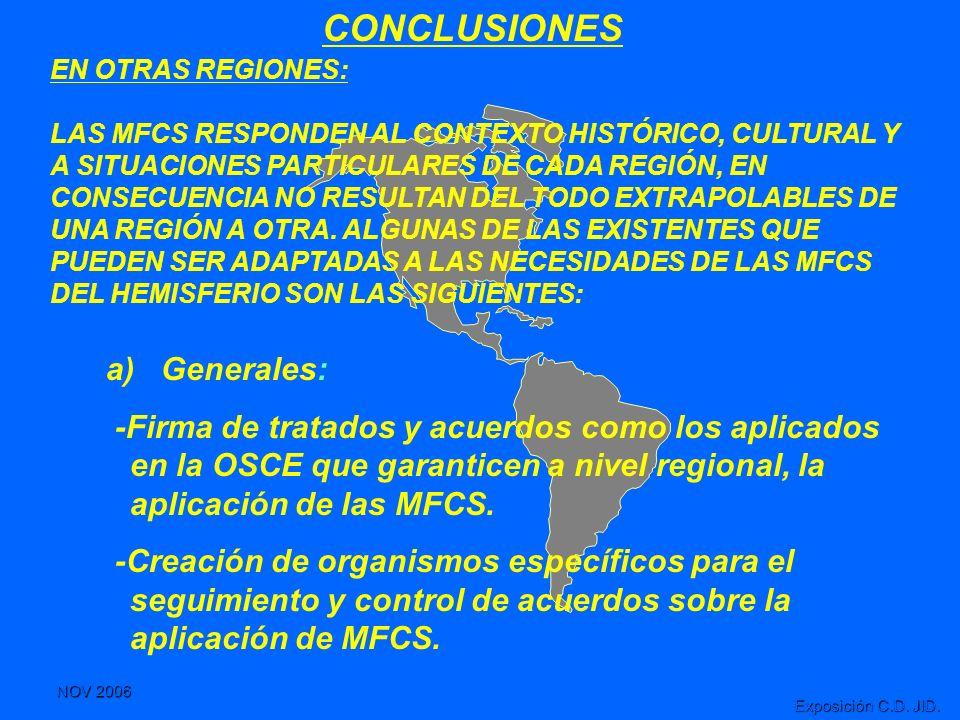 CONCLUSIONES a) Generales: