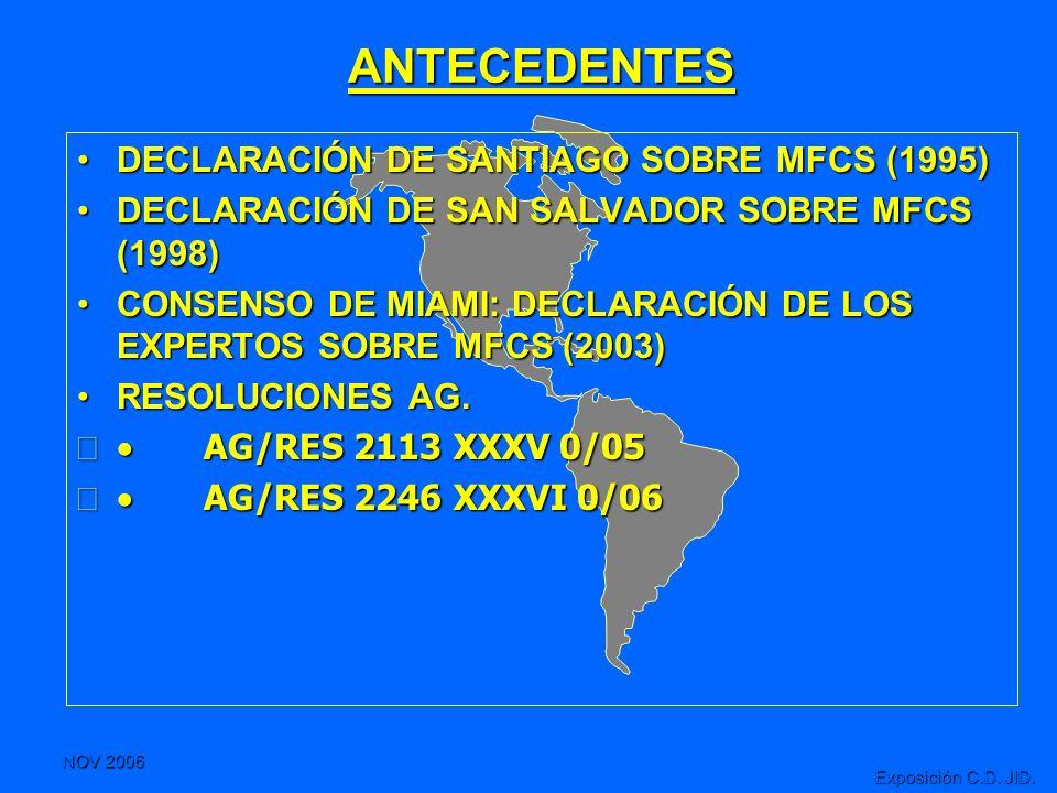 ANTECEDENTES DECLARACIÓN DE SANTIAGO SOBRE MFCS (1995)