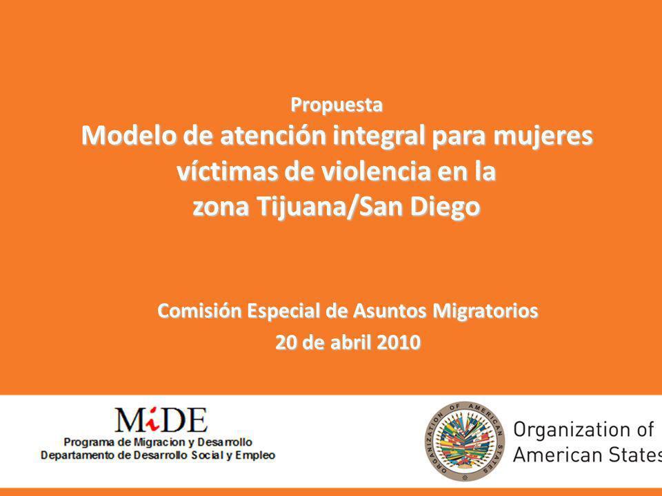 zona Tijuana/San Diego Comisión Especial de Asuntos Migratorios