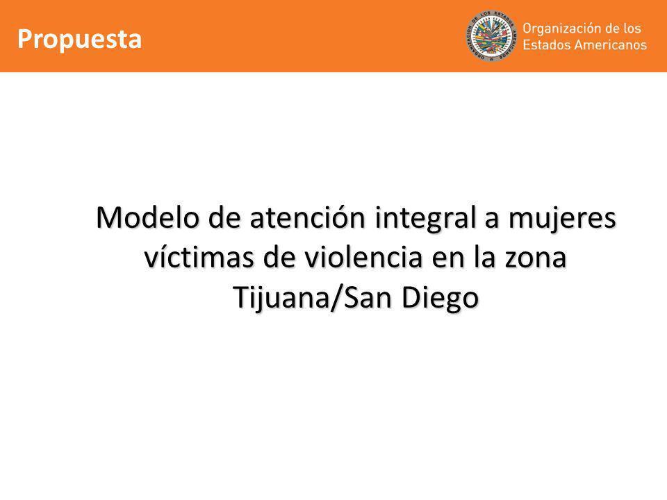 Propuesta Modelo de atención integral a mujeres víctimas de violencia en la zona Tijuana/San Diego