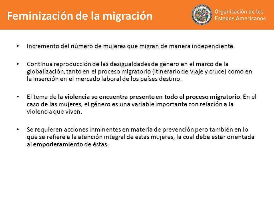 Feminización de la migración