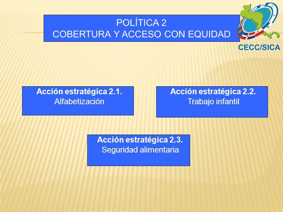 POLÍTICA 2 COBERTURA Y ACCESO CON EQUIDAD