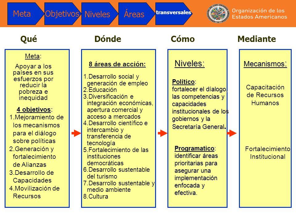 Meta Objetivos Niveles Áreas Qué Dónde Cómo Mediante Niveles: