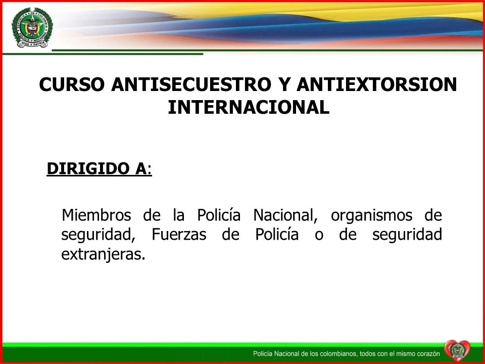 CURSO ANTISECUESTRO Y ANTIEXTORSION INTERNACIONAL