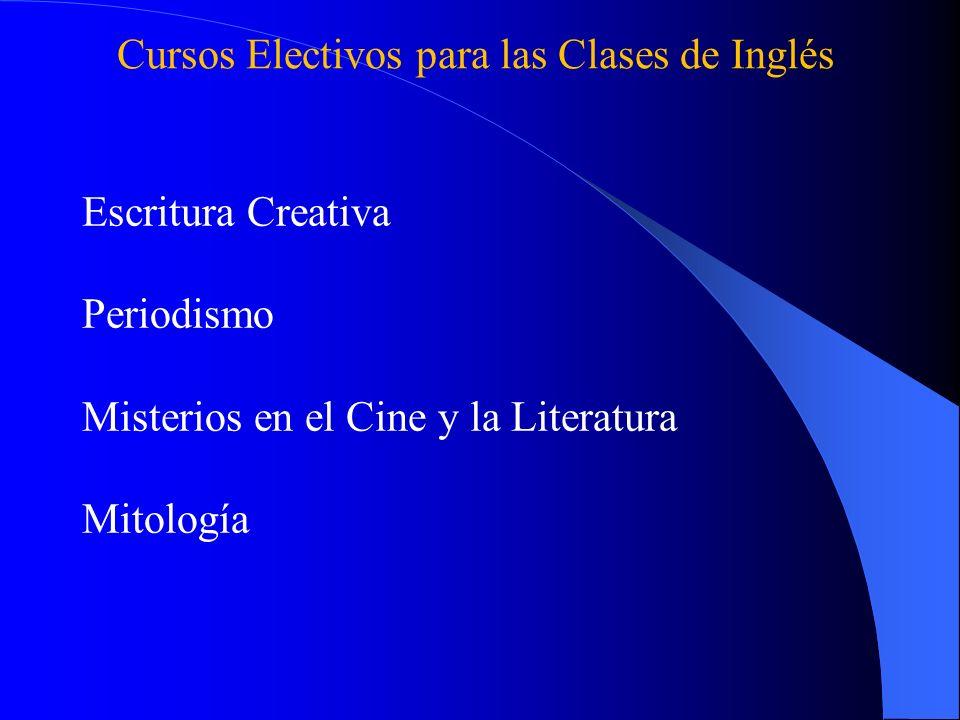 Cursos Electivos para las Clases de Inglés