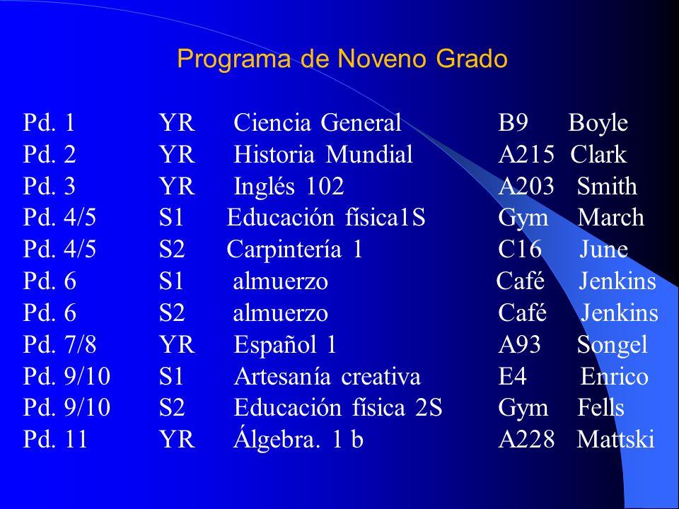 Programa de Noveno Grado