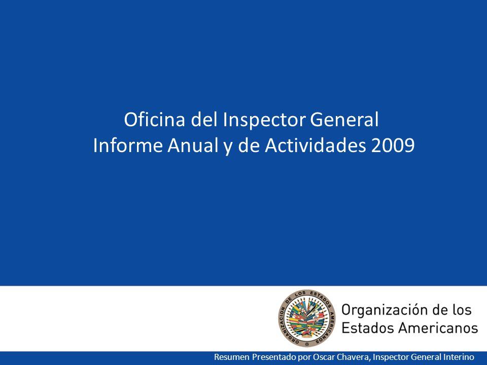 Oficina del Inspector General Informe Anual y de Actividades 2009