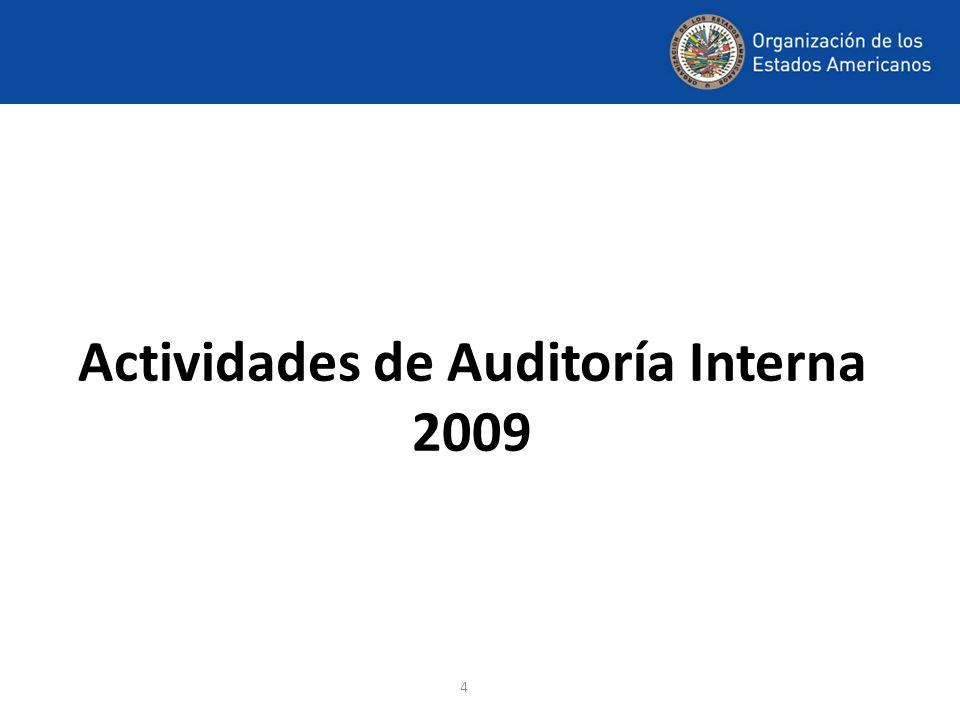 Actividades de Auditoría Interna 2009
