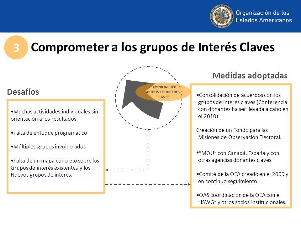 Comprometer a los grupos de Interés Claves