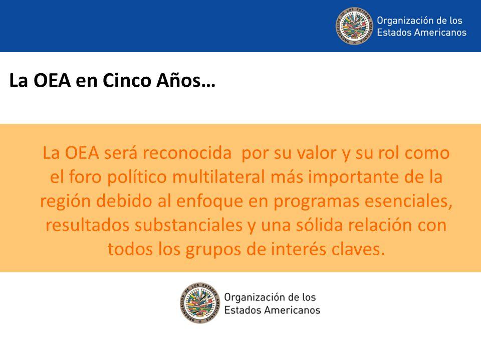 La OEA en Cinco Años…