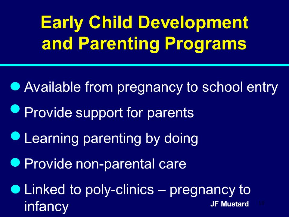 Early Child Development and Parenting Programs