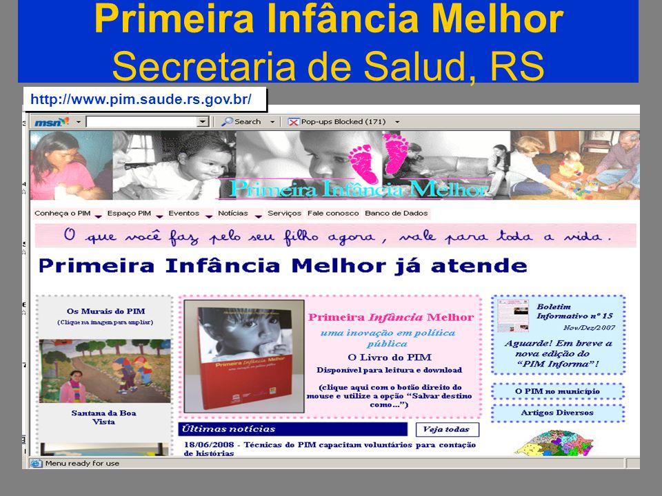 Primeira Infância Melhor Secretaria de Salud, RS