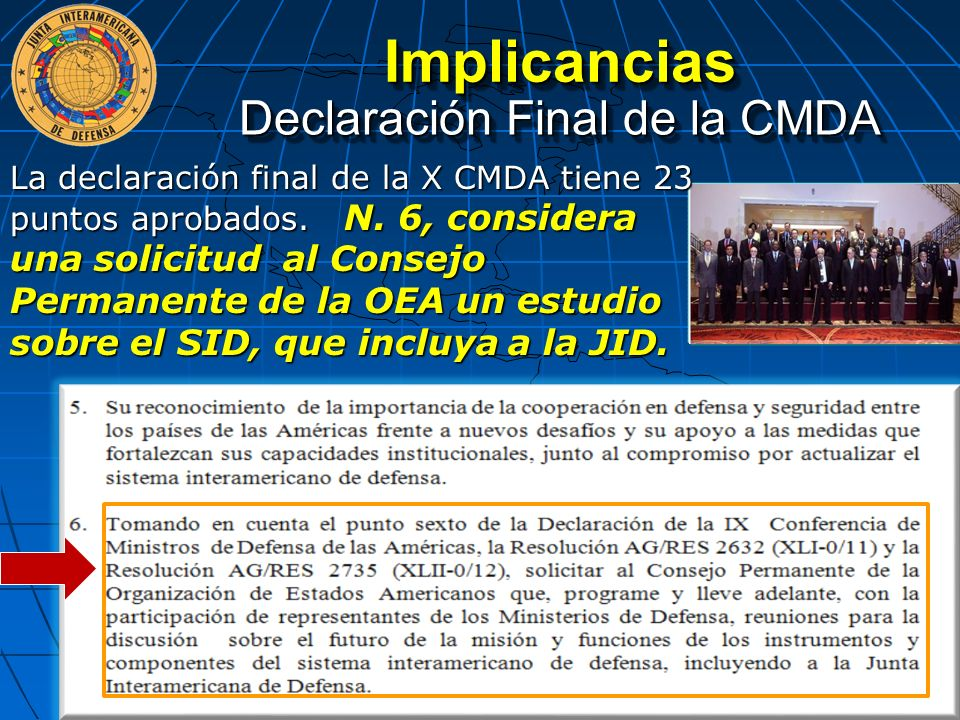 Declaración Final de la CMDA