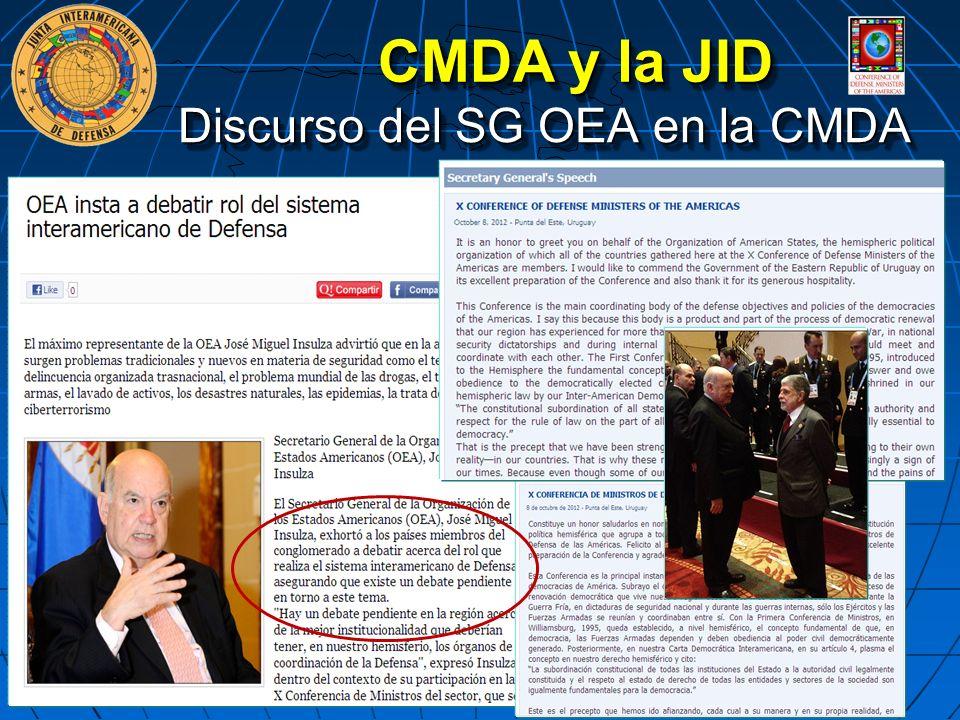 Discurso del SG OEA en la CMDA