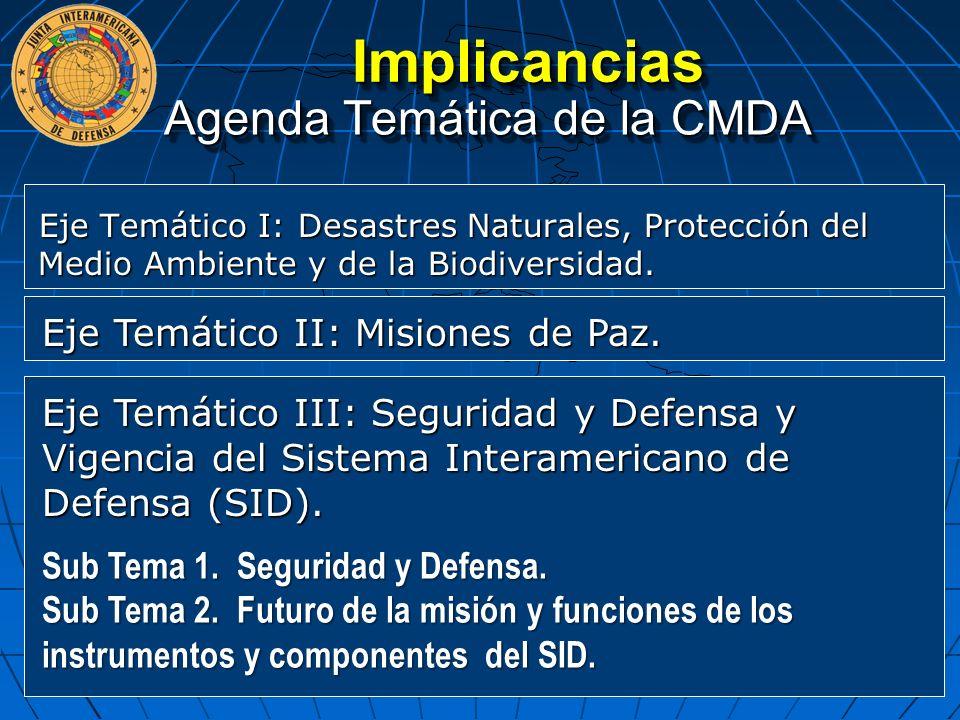 Agenda Temática de la CMDA