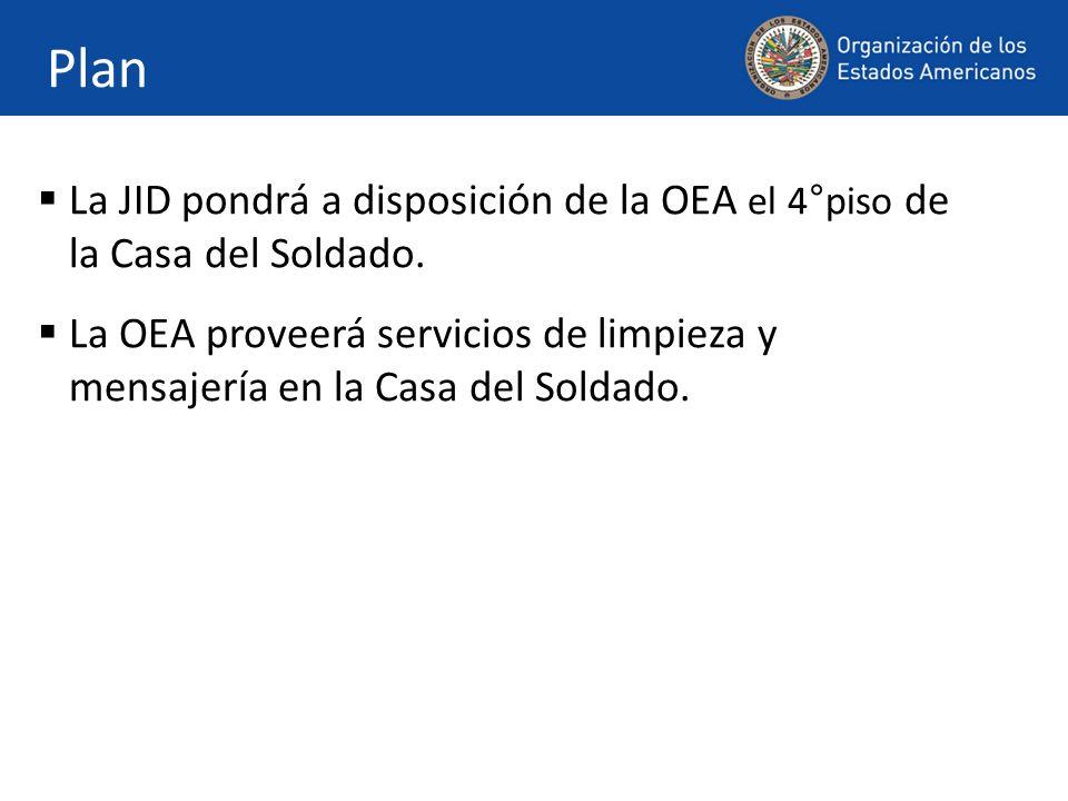 Plan La JID pondrá a disposición de la OEA el 4°piso de la Casa del Soldado.