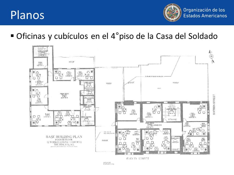 Planos Oficinas y cubículos en el 4°piso de la Casa del Soldado