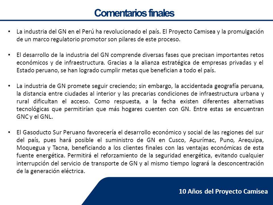 La industria del gas 10 a os del proyecto camisea ppt for Pavimentos y suministros del sur