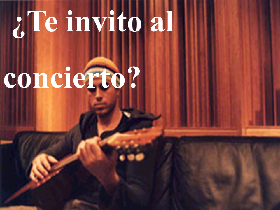 ¿Te invito al concierto