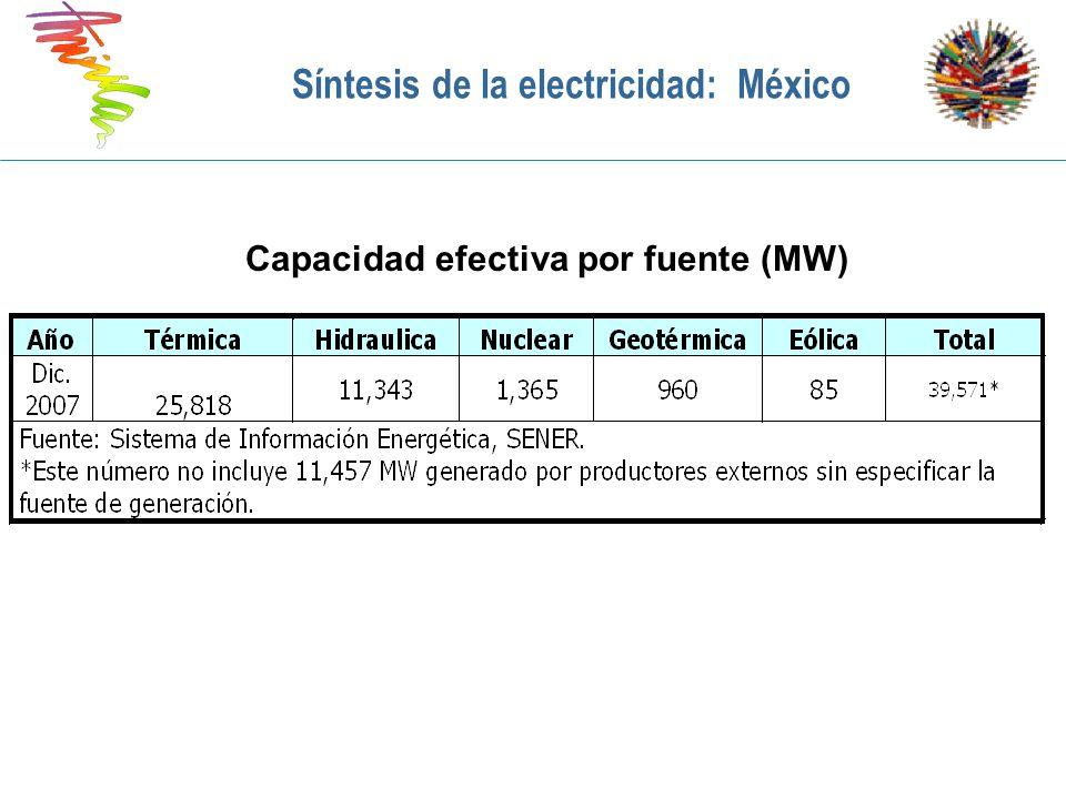 Síntesis de la electricidad: México