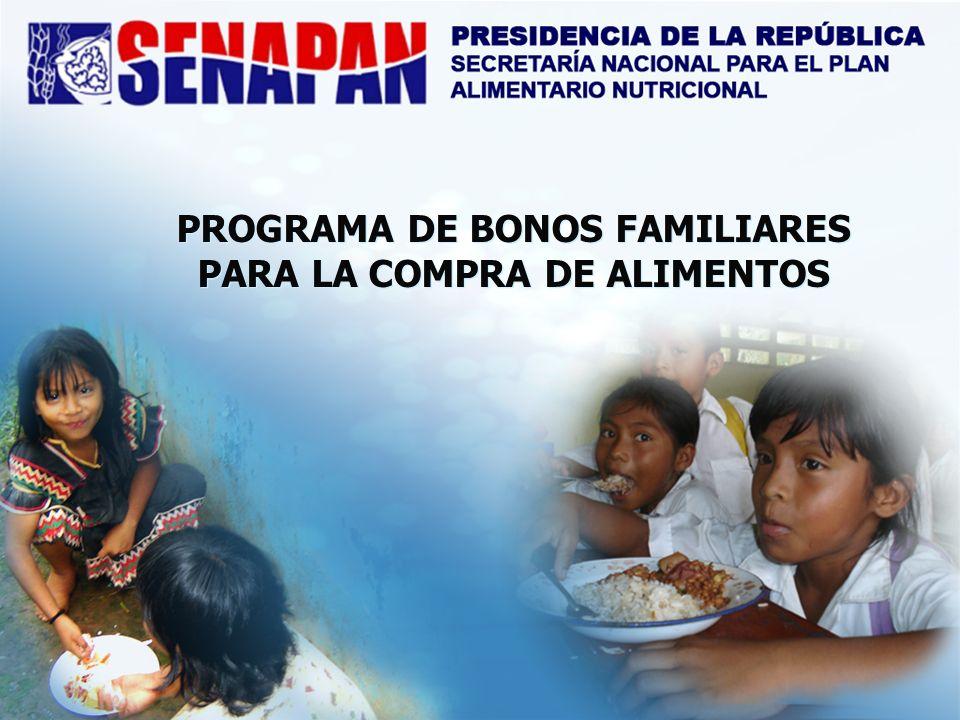 PROGRAMA DE BONOS FAMILIARES PARA LA COMPRA DE ALIMENTOS