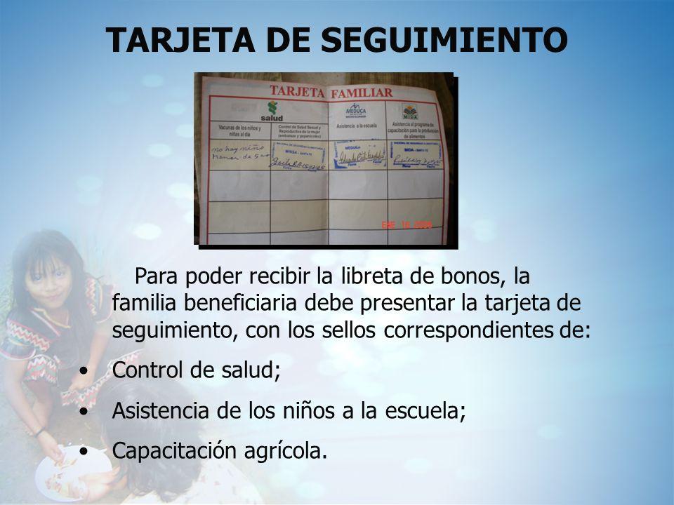 TARJETA DE SEGUIMIENTO