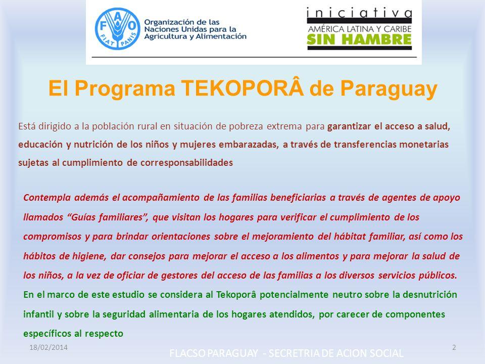 El Programa TEKOPORÂ de Paraguay