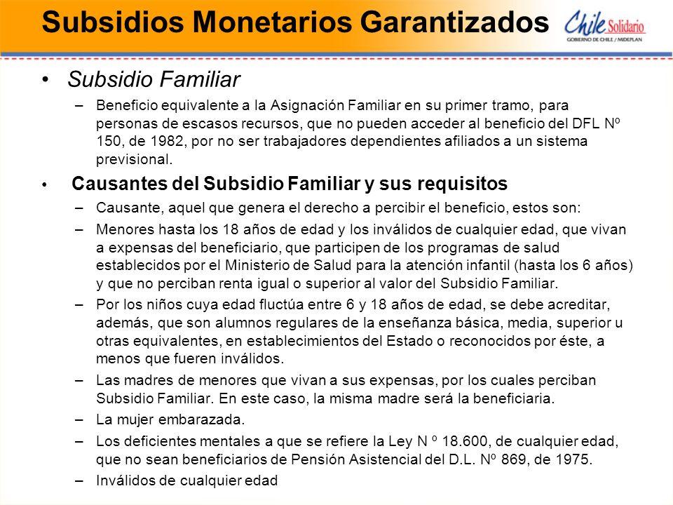 Subsidios Monetarios Garantizados