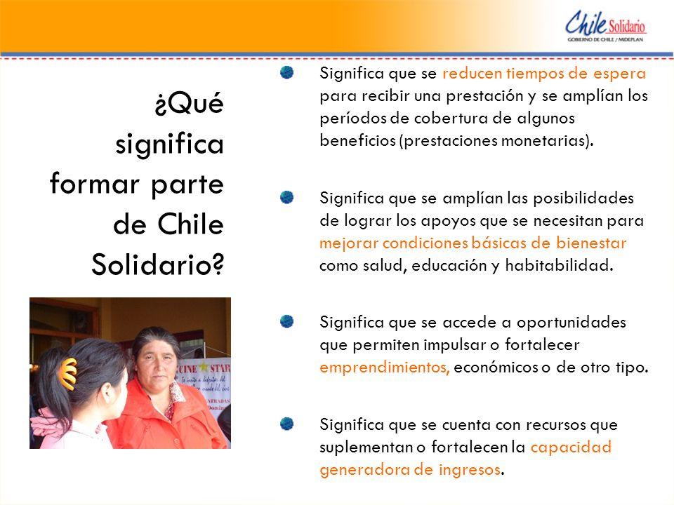¿Qué significa formar parte de Chile Solidario