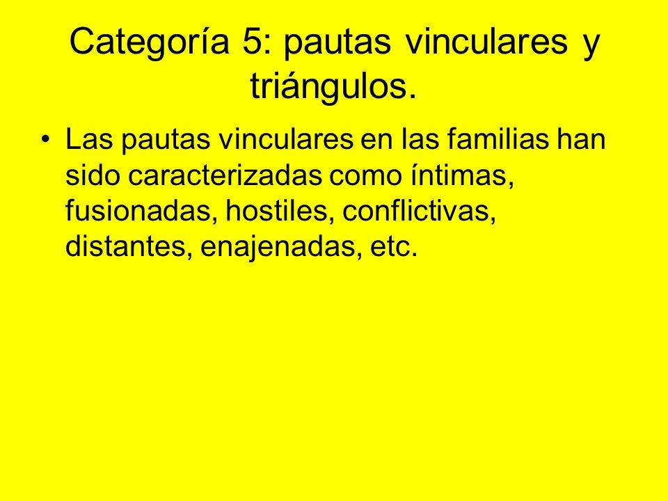 Categoría 5: pautas vinculares y triángulos.
