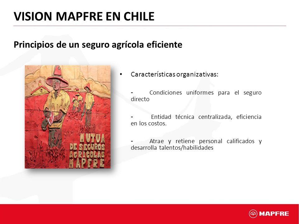 VISION MAPFRE EN CHILE Principios de un seguro agrícola eficiente