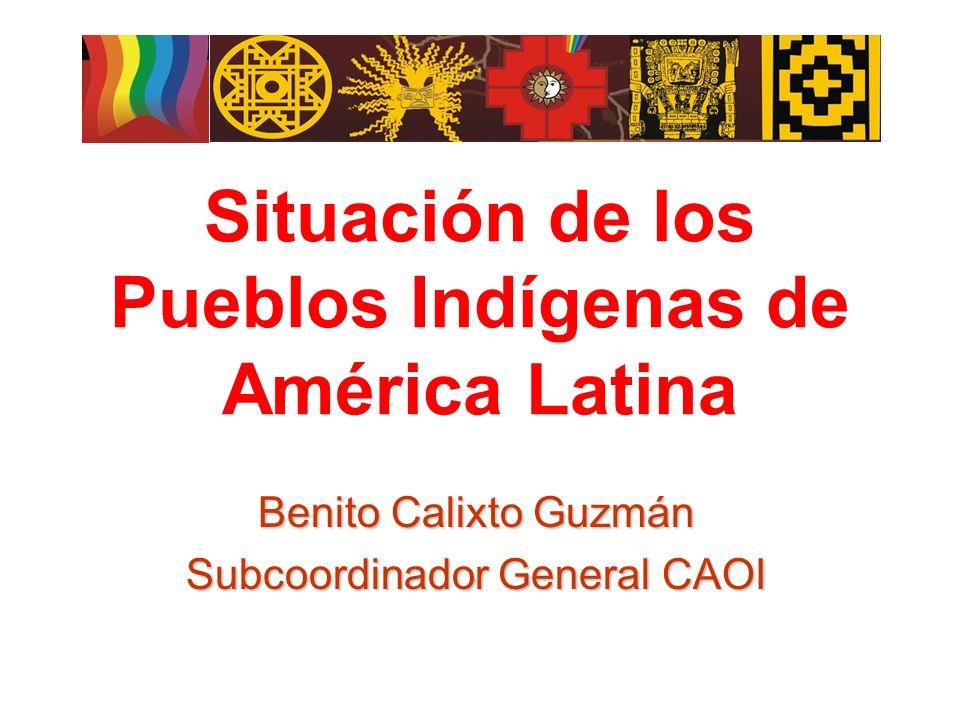 Situación de los Pueblos Indígenas de América Latina