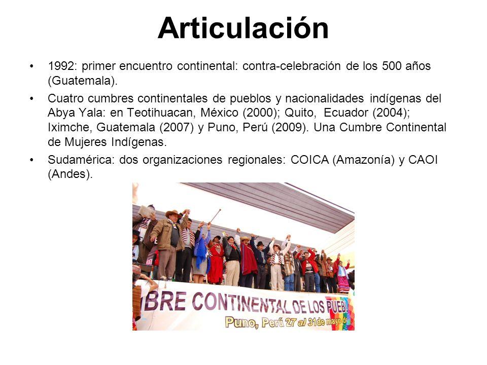 Articulación1992: primer encuentro continental: contra-celebración de los 500 años (Guatemala).