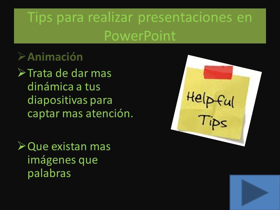 Tips para realizar presentaciones en PowerPoint