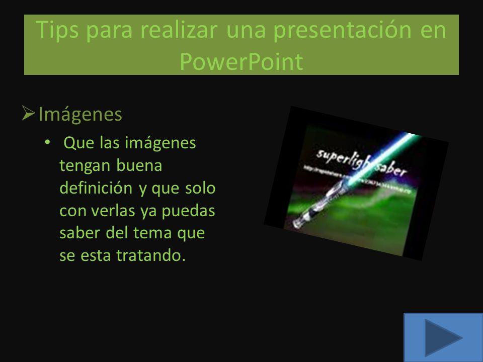 Tips para realizar una presentación en PowerPoint